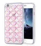 iPhone x аргументы за телефона прозрачного яркия блеска Сердц-Формы 3D милое