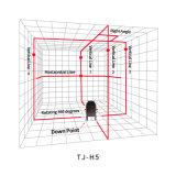 نفس [لفلينغ] 5 خطوط يدور أحمر ليزر مستوى