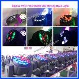 DJの洗浄蜂の目の段階ライト19X15W LED移動ヘッド