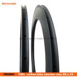 Углерод 88мм колеса велосипеда 700c Clincher дорожного движения - Light-Bicycle Rim