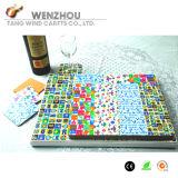 Os Coasters e o jogo de Placemats, com projetam