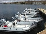 Liya 4.3m-5.2mのレスキュー肋骨のボートのガラス繊維の堅く膨脹可能なボート