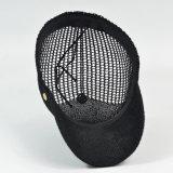 Grauer/schwarzer Baseballmütze-Fernlastfahrer-Hut des Panel-6