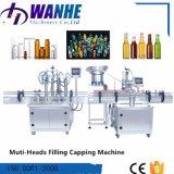 4 Los jefes de aceite automática Máquina de Llenado de líquido con tornamesa