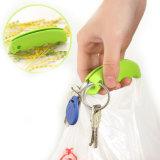 El clip del bolso del sostenedor del bolso con el ahorro de trabajo de Keychain protege el silicón casero de la herramienta de las manos