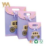 다채로운 작은 인쇄된 결혼 선물 종이 봉지 패킹 부대