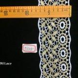 lacet nuptiale de garniture de lame de 7.5cm et de fleur de Sun de cercle pour la décoration Hme824 de robe de mariage