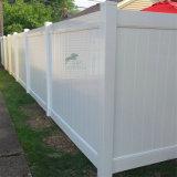 Venta caliente de PVC de color blanco, Panel de Chapa valla valla privado, PVC Cerco de privacidad