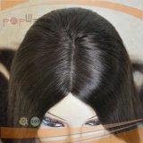 Peluca kosher judía superior de seda del pelo humano (PPG-l-01202)