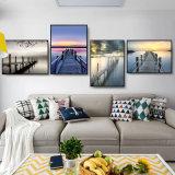 Decoración hecha a mano abstracta colorida del hogar de la pintura al óleo