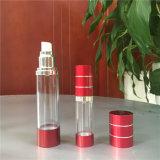 空気のないポンプスプレーヤーが付いている15ml 30ml 50mlのプラスチック装飾的なびん