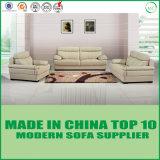 Moderne lederne Schnittlagerschwelle-Sofa-Wohnzimmer-Möbel