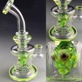 Tubos de fumo alienígena Verde Bontek Tubo de vidro para fumar Shisha