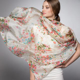 Печатание 2018 цифров высокого качества шарф изготовленный на заказ Silk (HJ1707-035)
