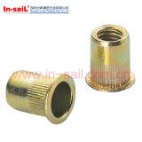 DIN7339鋼鉄亜鉛によってめっきされる平らなヘッド管状のリベット