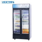 Vitrine de vente chaude porte en verre réfrigérateur