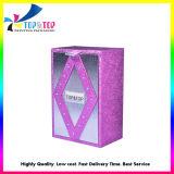 Коробка роскошного дух бумажная с деревянным основанием
