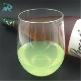 vidrio de vino sin pie plástico de 16oz 450ml Tritan personalizado, tazas de champán plásticas