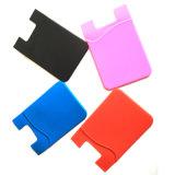 Supports par la carte de crédit imperméables à l'eau d'identification de 3M de collant de silicones secs universels promotionnels de téléphone mobile