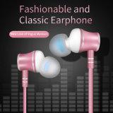 Novo estilo de Metal de alta qualidade no fone de ouvido intra-auriculares com microfone