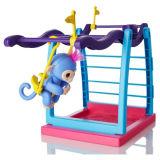 Спортивная площадка Liv штанги игрушка обезьяны Playset Fingerlings младенца голубая