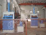 El paño hidráulico despide la prensa vertical que recicla la máquina