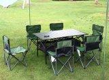 휴대용 옥외 테이블 및 의자를 접히는 프리미엄 6+1 야영 픽크닉