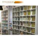 壁の装飾(G838003)のための中国の工場ストリップの金ガラスモザイク
