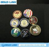 Métiers faits sur commande en métal de pièce de monnaie d'enjeu de pièce de monnaie de médaille de cadeau de promotion