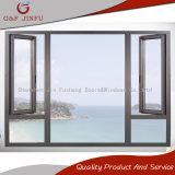 Ventana de aluminio del marco exterior de la apertura con el vidrio doble