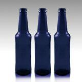 Frasco de cerveja de vidro In330ml do azul de cobalto da boa qualidade