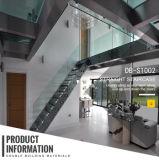 現代屋内ステンレス鋼のガラスまっすぐなステアケース