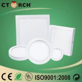 Luz do painel de LED de superfície quadrada 12W com marcação CE/Compatível com RoHS