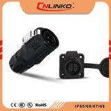 Hängen wasserdichtes männlich-weibliches Stecker-und Kontaktbuchse-Panel Pin-IP67 2 wasserdichten Verbinder Pin-M16 2 für Energien-Anwendung ein