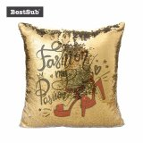 승화 Flip Sequin Pillow Cover (Silver에 Gold)