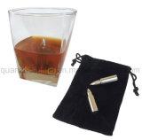 OEM de forme cylindrique en acier inoxydable réutilisables Whiskey pierres cube de glace