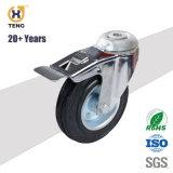 Высокое качество 4 дюйма средней мощности резиновые колеса для промышленности