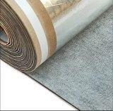 el caucho de espuma insonoro adhesivo de la hoja de plata de 2m m fue la base para la instalación de la calefacción de suelo