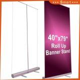 Affichage de la publicité de plein air d'impression personnalisée stand portable 800*200 Al-Alloy Roll up Banner