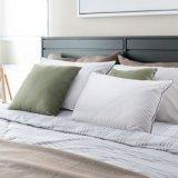 Almofadas para dormir, registrado com a FDA Cama Alternativas 2 almofadas Pack, Super Macio de enchimento de fibra de pelúcia, Ajustável Loft, para alívio da dor no pescoço, dormitório lateral,