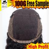 Produits capillaires de perruque avant en soie brésilienne de lacet