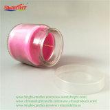 Pode Sabor Lilás Rosa em forma de vela de cristal com tampa de plástico