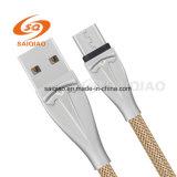 Zink-Legierungs-Fischernetz umsponnenes USB-Aufladeeinheits-Kabel für Huawei