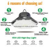 160lm/W Lente Glarefree pó 150W Marquise LED Lâmpada High Bay