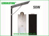 La iluminación LED Solar LED de exterior de la luz de la calle con un panel solar