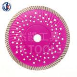 Heiße Presse besitzen Diamant-Ausschnitt-Granit-Welle verstärkte Platte des Flansch-D180 7 ''