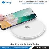 Nuevo 10W Slim Fast Qi Certified Wireless Cargador de teléfono móvil para iPhone/Samsung o Nokia y Motorola/Sony/Huawei/Xiaomi