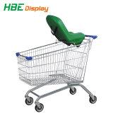 Großhandelslebensmittelgeschäft-Supermarkt-europäische Art-Einkaufen-Laufkatze-Karre