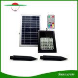 Solar jardín al aire libre de la luz de LED RGB con mando a distancia
