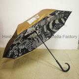Le plein d'impression inversée personnalisé parapluie de marche arrière pour cadeau promotionnel (SU-0023I)